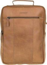 DSTRCT Riverside Leren Rugzak A4 - 15,6 inch laptoptas - Sleutelhanger - Cognac