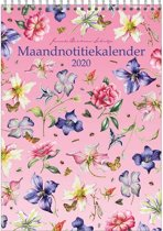 Maandnotitiekalender 2020 Janneke Brinkman A4 'Clematis'