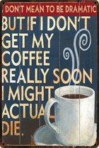 Koffie - Coffee - Decoratie - Wonen- Wandbord - Vintage - retro - TH Commerce 8928