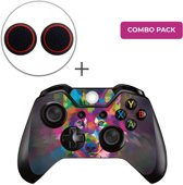 Color Wolf Combo Pack - Xbox One Controller Skins Stickers + Thumb Grips