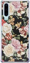 Huawei P30 siliconen hoesje - Flowerpower