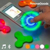 InnovaGoods Ledspinner met Luidspreker en Bluetooth Blauw