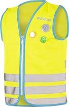 WOWOW Monster jacket  geel M- Fluo hesje kind EN1150 - Veiligheidshesje met reflekterende print