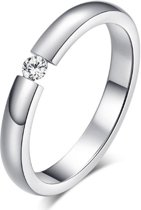 Cilla Jewels edelstaal ring Crystal Silver-16mm