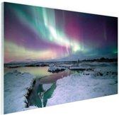 Verschillende kleuren noorderlicht Glas 60x40 cm - Foto print op Glas (Plexiglas wanddecoratie)