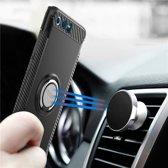 Let op type!! MOFI voor mysterieuze serie Huawei Honor 9 schokbestendige beschermende achtercover hoes met magnetische draaibare ringhouder (zwart)