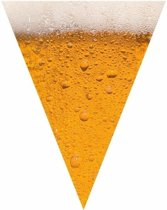 Oktoberfest - 4x Bier print vlaggenlijn / slinger 6,4 meter - bierfeest versiering