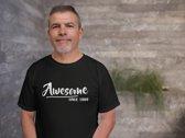 Abraham 50 jaar t-shirt / Awesome since 1969 / kado tip / Heren maat XL / cadeau / Sarah