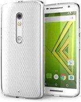 Ultra Dunne 0,3 mm  Siliconen hoesje voor Motorola Moto X Play - Transparant Doorzichtig