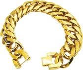 Amanto Armband Batu - Heren - 316L Staal goudkleurig PVD - 19 mm - 22 cm