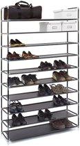 XXL Schoenenrek - Schoenenkast - Schoenen opbergen - Geschikt voor 50 paar schoenen - Zwart