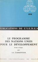 Le programme des Nations Unies pour le développement