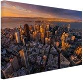 Luchtfoto San Francisco Canvas 120x80 cm - Foto print op Canvas schilderij (Wanddecoratie woonkamer / slaapkamer) / Steden Canvas Schilderijen