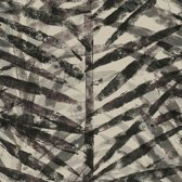 Stapelgoed - Fotobehang Palm Leaves - Beige/Zwart - 900cmx50cm