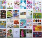 Verjaardagskaarten en Assortie Wenskaarten - Set van 20 + 6 EXTRA--L-092