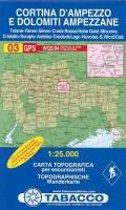 Wandelkaart 03 Cortina D'Ampezzo E Dolomiti Ampezzane 1:25.000 (2017)
