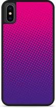 iPhone Xs Hardcase hoesje roze paarse cirkels