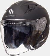 Helm MT Jet Avenue sv mat zwart M