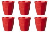 GINGER Medium Cup set - 6 melamine bekers - rood