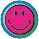Zak!Designs Smiley Popart Onderzetters - Voor glas - Blauw - Set van 4 stuks