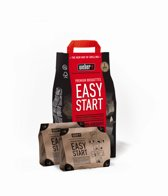 Premium Easy Start houtskool, set van 2 x 700 = 1.400 gram