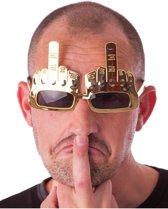 Middelvinger bril voor volwassenen - Verkleedattribuut