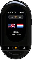 Travis Touch - Vertaler, 2.4 inch, WiFi + 4G, Draadloos Laden, Translator, Zwart