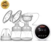 Rudolphy Duo | elektrische borstkolf met display | 9-traps verstelbaar | accu | BPA vrij | compact