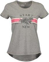 Blue Seven dames shirt grijs + print - maat L