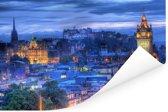 Het kasteel van het Schotse Edinburgh Poster 120x80 cm - Foto print op Poster (wanddecoratie woonkamer / slaapkamer) / Europese steden Poster