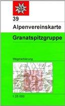 DAV Alpenvereinskarte 39 Granatspitzgruppe 1 : 25 000 Wegmarkierungen
