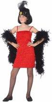 Jaren 20 Flapper kostuum voor meisjes 128 (7-9 jaar)