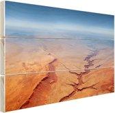 Luchtfoto van de Grand Canyon Hout 80x60 cm - Foto print op Hout (Wanddecoratie)