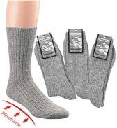 100% Schapenwollen sokken - badstof zool - zonder elastiek – 2 paar - maat 39/42