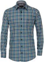 Casa Moda Sport Overhemd Petrol Groen Geruit Kent Comfort Fit - 6XL