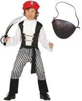 Compleet piraten verkleedpak maat 110-116 voor kinderen - piraten kostuum