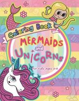 Mermaid and Unicorns Coloring Book for Kids Ages 4-8