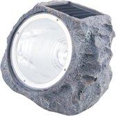 LED Solar Steen Lamp - Grondspot - Millieuvriendelijk - Zonne Energie - Tuinverlichting- Solar - LED - Grijs