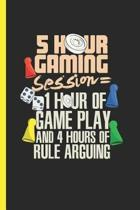 5 Hour Gaming Session 1 Hour Of Game Play and 4 Hours Of Rule Arguing