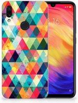 Xiaomi Redmi Note 7 Uniek TPU Hoesje Geruit
