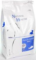 Natural Health Droogvoer Hondenvoeding Natural Health Dog Fish & Rice single proteïn - premium