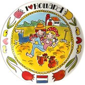 Blond Amsterdam I Love Holland Bord - Ø 26 cm - 'Stro'