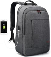 Tigernu Business II - laptop rugzak - anti diefstal met usb - 12,5 tot 17 inch - grijs