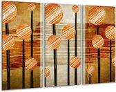 Canvas schilderij Art | Bruin, Grijs | 120x80cm 3Luik
