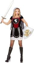 Middeleeuwse & Renaissance Strijders Kostuum | Strijdbare Vrouwelijke Ridder Kostuum | Large | Carnaval kostuum | Verkleedkleding