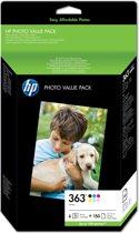 HP 363 - Photopack 6 kleuren + Papier
