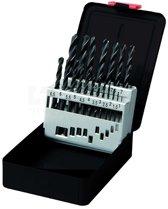 HSS Metaalboren spiraalboor set 19 delig maat 1 t/m 10 mm metaal boor HSS in stevige cassette