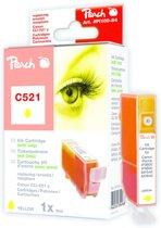 Peach C521 - Inktcartridge Canon CLI-521 - Geel