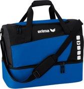 Erima Club 5 Line Sporttas met Bodemvak Small - New Royal/Zwart