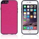 TPU/PU Leren Softcase iPhone 6(s) plus - Roze